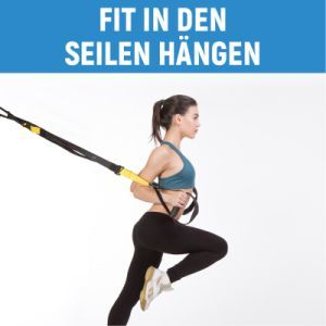 Fit in den Seilen hängen